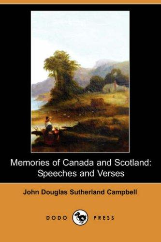 Download Memories of Canada and Scotland