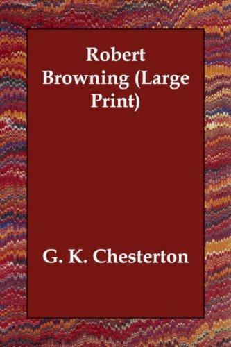 Robert Browning (Large Print)