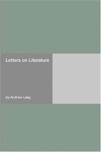 Download Letters on Literature