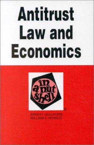 Antitrust law and economics in a nutshell