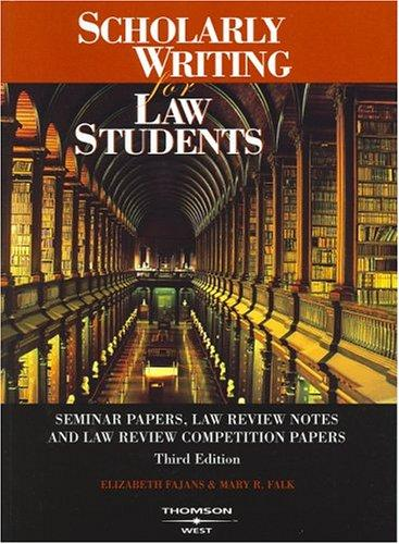 Download Scholarly writing for law students