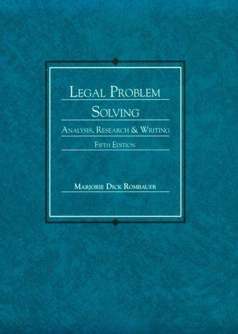 Download Legal problem solving