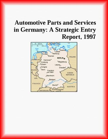 Download Automotive Parts and Services in Germany