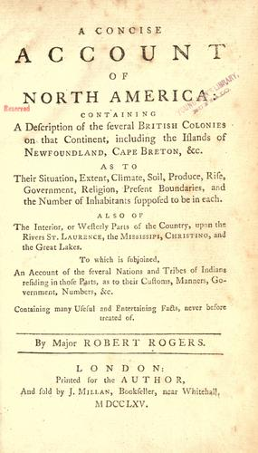 Download A concise account of North America