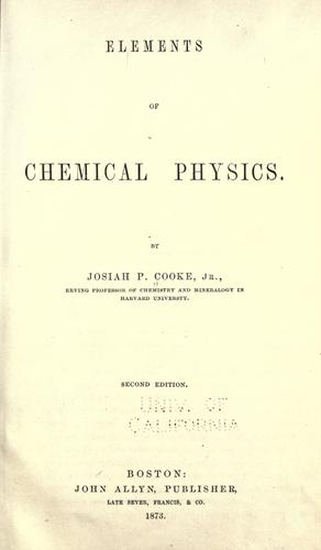 Elements of chemical physics.