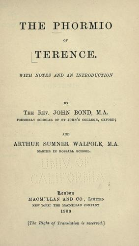 The Phormio of Terence.