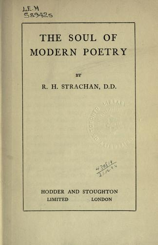 Download The soul of modern poetry.