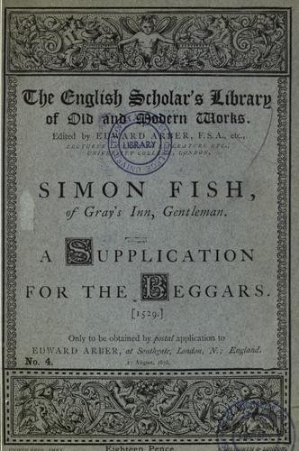 Simon Fish, of Gray's Inn, gentleman