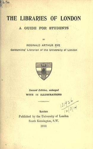 Download The libraries of London