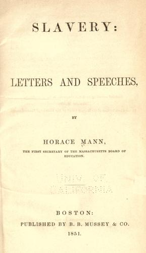 Download Slavery, letters and speeches