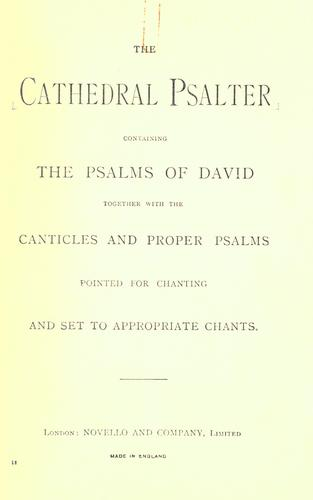The cathedral psalter