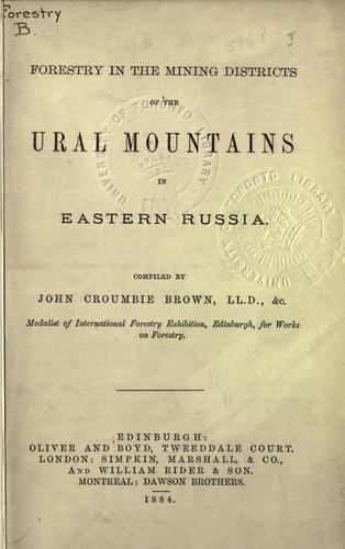 Download Forestry in the mining districts of the Ural mountains in Eastern Russia.