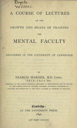 Download A course of lectures on the growth, and means of training the mental faculty.