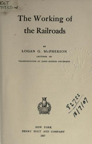 Download The working of the railroads.