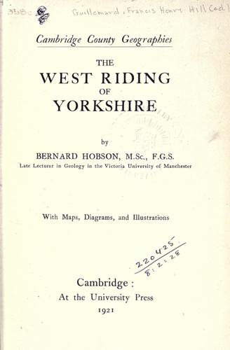 Download The West Riding of Yorkshire.