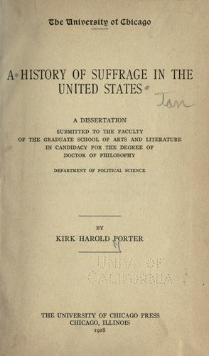 Download A history of suffrage in the United States.