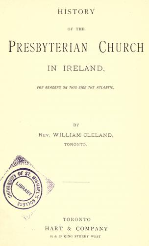 History of the Presbyterian Church in Ireland