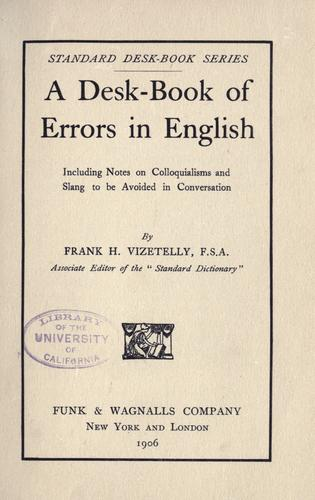 Download A desk-book of errors in English