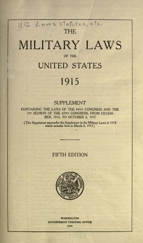 Download The military laws of the United States, 1915.