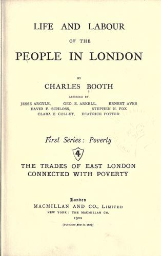 Download Life and labour of the people in London