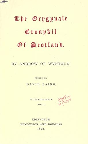 Download The orygynale cronykil of Scotland.