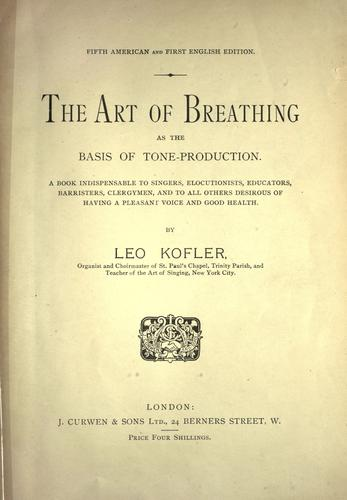 Download The art of breathing as the basis of tone-production