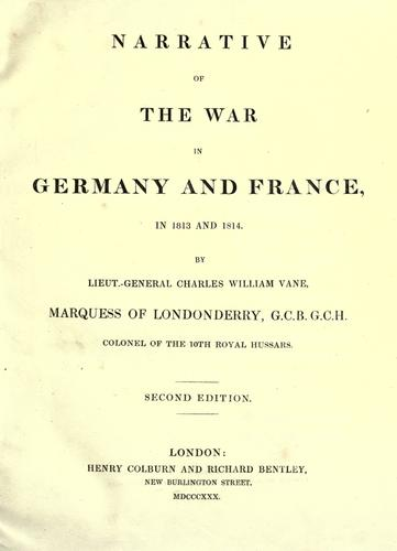 Download Narrative of the war in Germany and France, in 1813 and 1814.