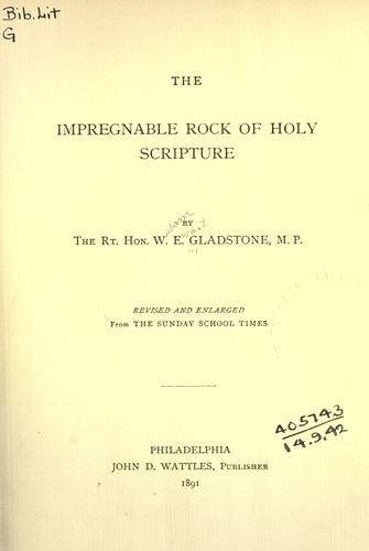 The impregnable rock of Holy Scripture.