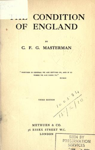 Download The condition of England.