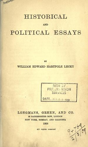 Download Historical and political essays.