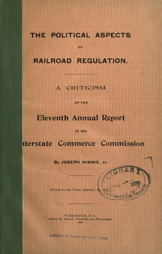 Download The political aspects of railroad regulation.