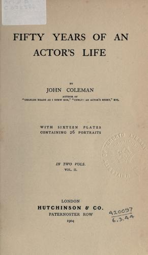 Download Fifty years of an actor's life