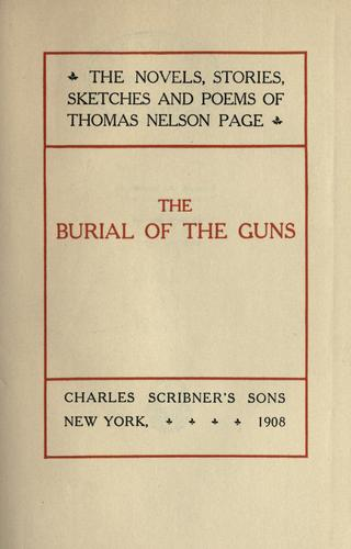 The burial of the guns.
