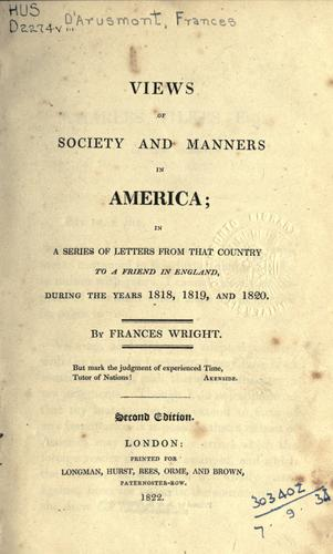 Download Views of society and manners in America