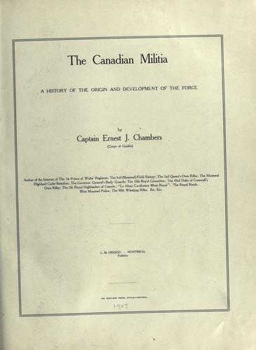 Download The Canadian militia