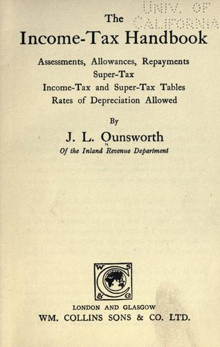 The income-tax handbook