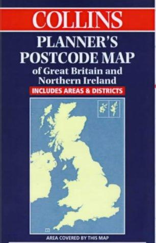 Download Collins Planner's Postcode Area Map of Great Britain and Northern Ireland: Scale 1:850 000