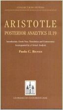 Aristotle, Posterior Analytics II.19 by Paolo C. Biondi