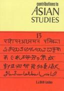 Contributions to Asian Studies by M.D. Chaudhry