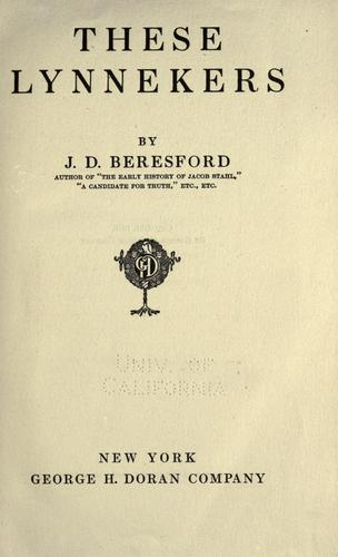 These Lynnekers by J. D. Beresford