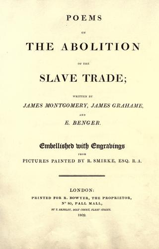 Poems on the abolition of the slave trade by