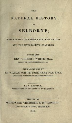 The natural history of Selborne by White, Gilbert