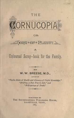The cornucopia by W. W. Breese