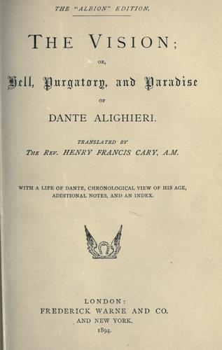 The Vision by Dante Alighieri